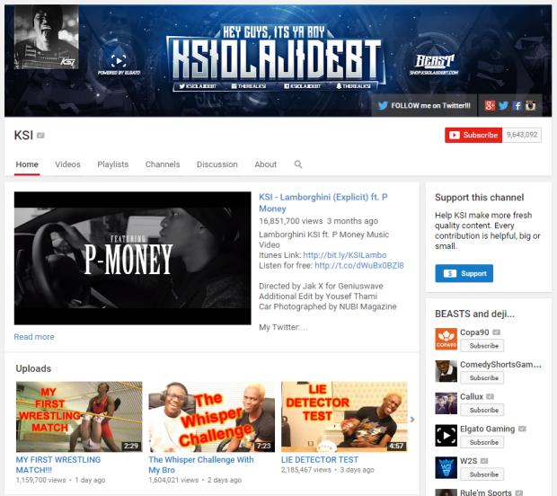 KSI YouTube